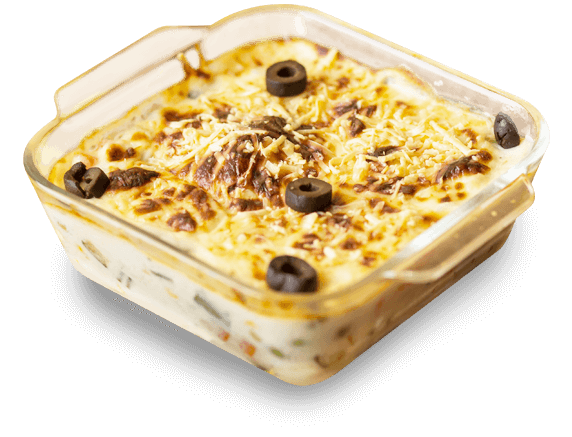 Veg Au Gratin - Mixed Vegetables, White Sauce, Cheese