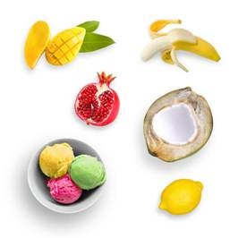 Real Fruit Sorbets - 100% Real, Natural Fruits, Low-Fat, Frozen Fruit Treats