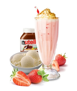 Hazel Berry Indulge Thich Shake, Milkshake, Thick Shake Nutella, Strawberry and Ice Cream