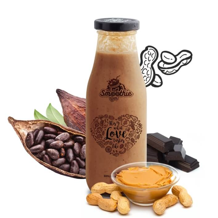 Euphoria Smoothie Drink - Peanut Butter, Dark Chocolate and Cocoa